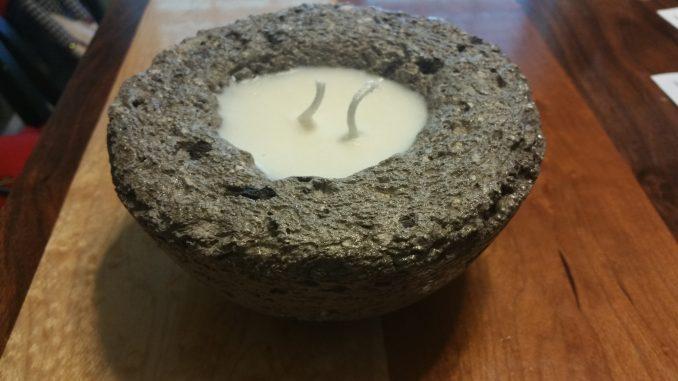 Hypertufa Faux Stone Candle - Citronella (Medium)
