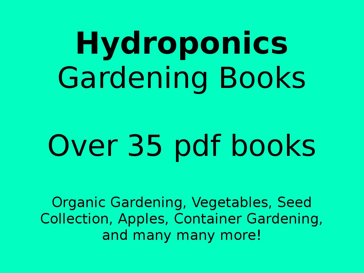 Hydroponics Gardening Books