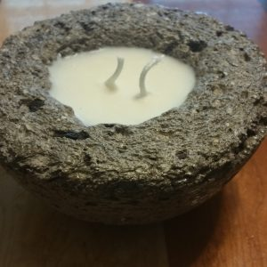 Hypertufa Faux Stone Candle - Citronella (Medium)
